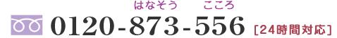 フリーダイヤル0120-873-556 24時間対応